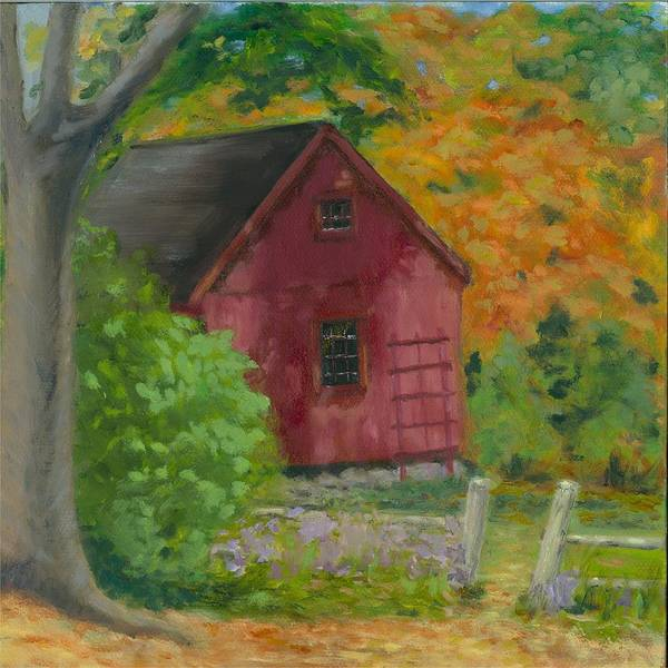Landscape Art Print featuring the painting The Last Days Of Autumn by Paula Emery
