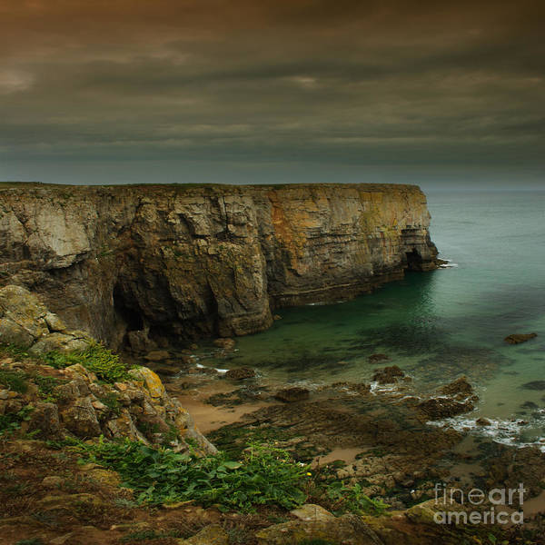 Pembrokeshire Art Print featuring the photograph The Pembrokeshire Cliffs by Angel Ciesniarska