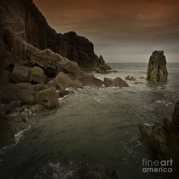 Sea Art Print featuring the photograph The Sea And The Rocks by Angel Ciesniarska