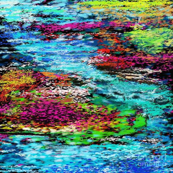 Abstract Art Print featuring the digital art Thought Upon A Stream by David Lane