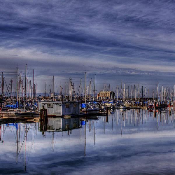 Boats Art Print featuring the photograph Tideflats Marina by David Patterson