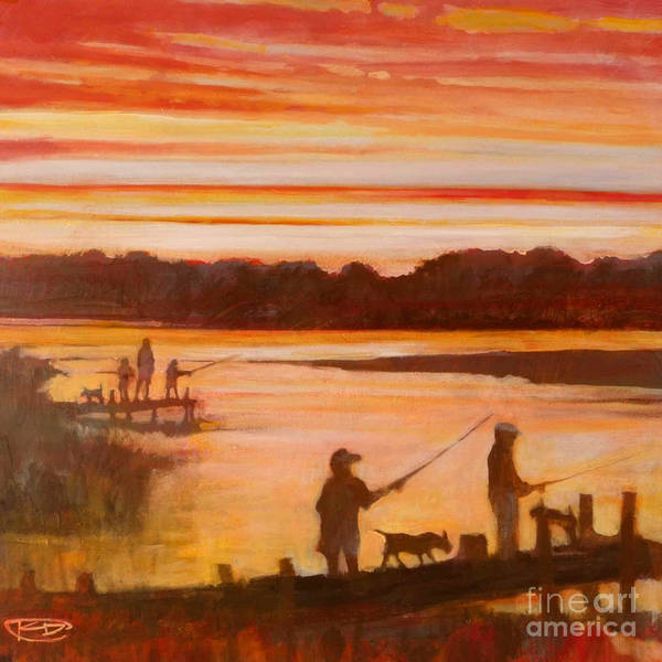 Fishing Art Print featuring the painting Time To Go Home by Kip Decker
