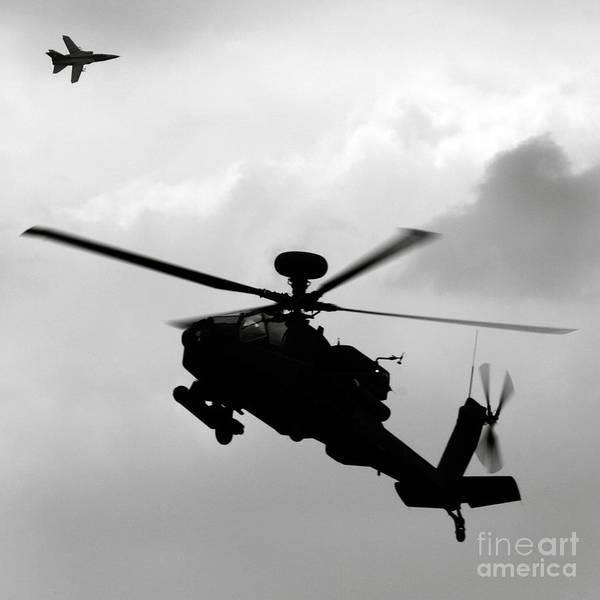Apache Art Print featuring the photograph Tornado F3 And Apache by Angel Ciesniarska