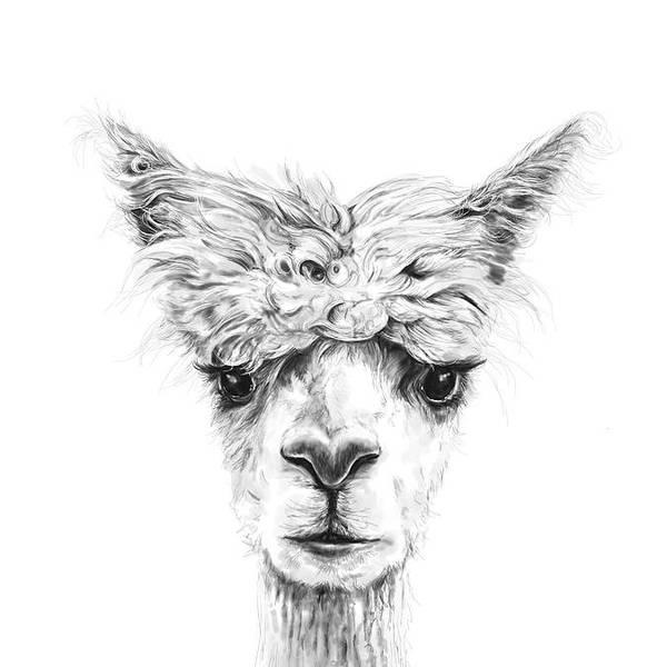 Llama Art Art Print featuring the photograph Tracy by K Llamas