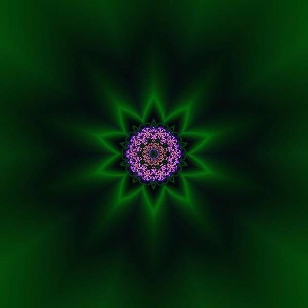 Mandala Art Print featuring the digital art Transition Flower 10 by Robert Thalmeier