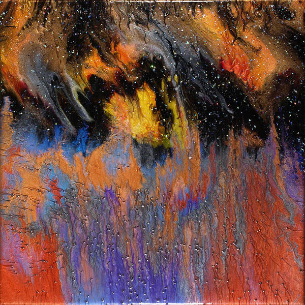 Abstract Art Print featuring the painting Twilight Wonder by Paul Tokarski