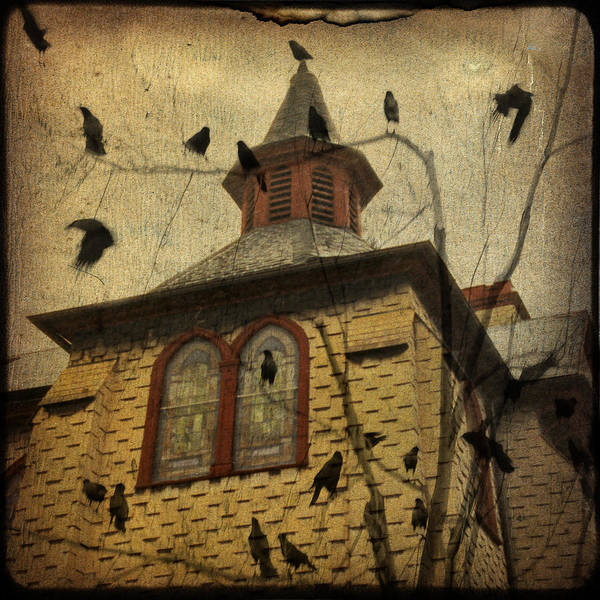 Crows Art Print featuring the digital art Urban Crows by Gothicrow Images