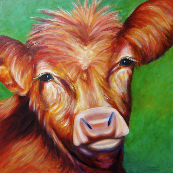 Bull Art Print featuring the painting Van by Shannon Grissom