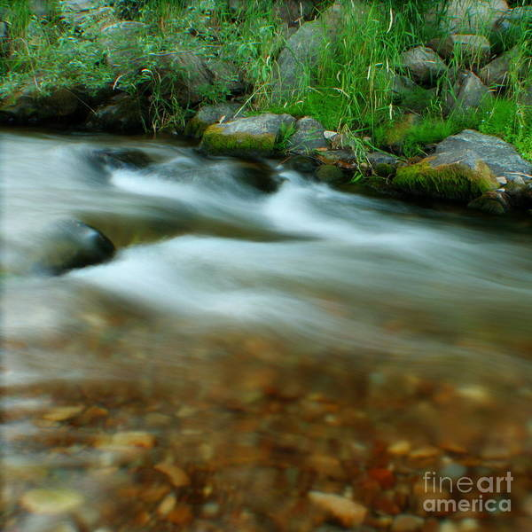 River Art Print featuring the photograph Velvet River by Idaho Scenic Images Linda Lantzy