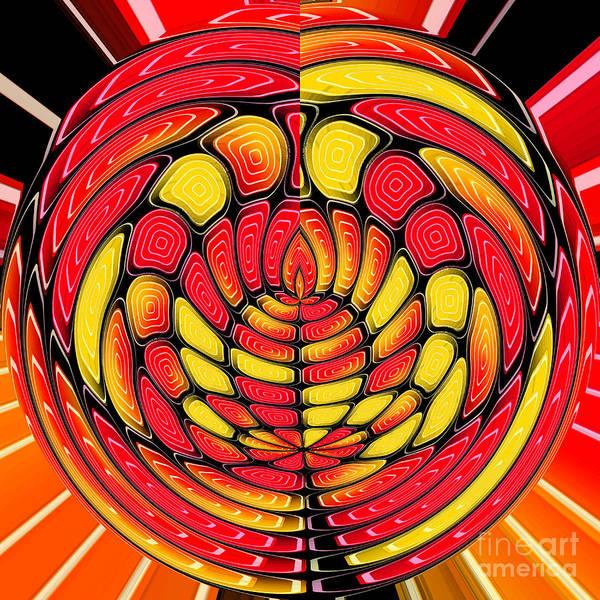 Decorative Art Art Print featuring the digital art Vibrant Reds by Gaspar Avila