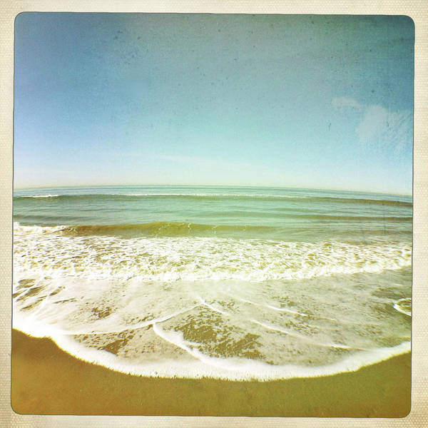 Square Art Print featuring the photograph View Of Tides In Sea by Denise Taylor