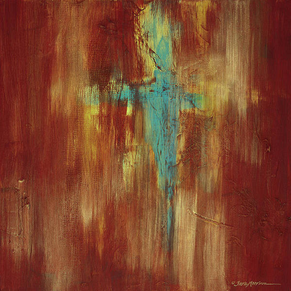 Abstract Art Print featuring the painting Vision Quest by Tara Moorman