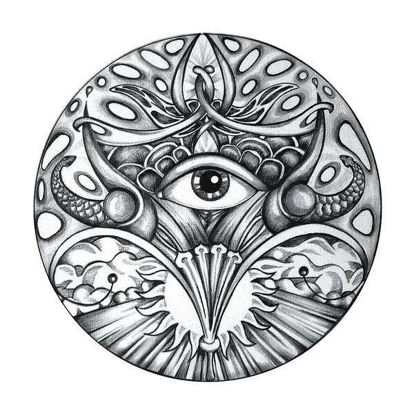 Eye Art Print featuring the drawing Vision by Shadia Derbyshire
