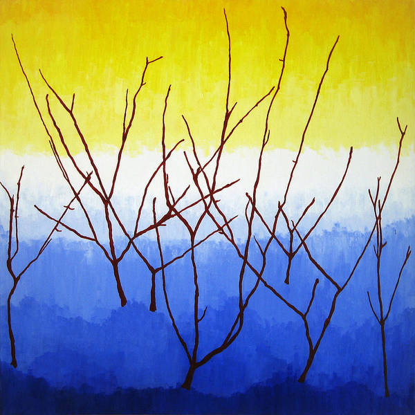 Nature Art Print featuring the painting Winter Dogwood by Oliver Johnston
