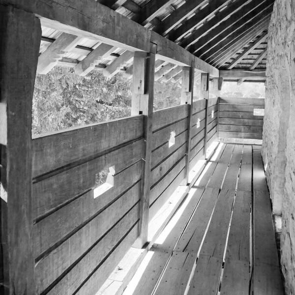 Balcony Print featuring the photograph Wooden Balcony by Gabriela Insuratelu