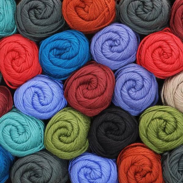 Yarn Art Print featuring the photograph Wool Yarn Skeins by Jim Hughes