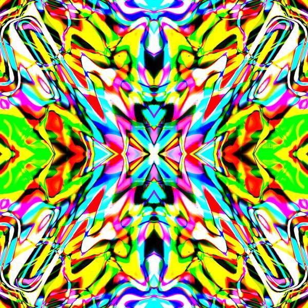 Art Print featuring the digital art Yayo by Blind Ape Art