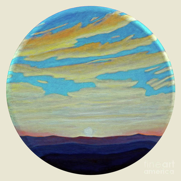 Landscape Art Print featuring the painting Yesterday by Brian Commerford