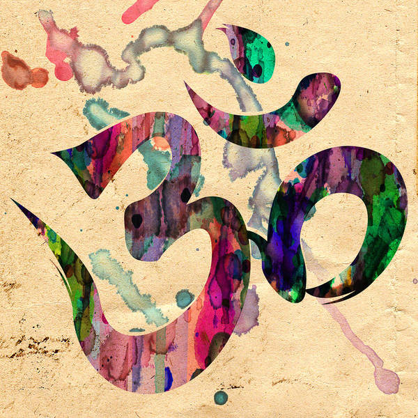 Yoga Ohm Symbol Art Print By Robert R Splashy Art Abstract Paintings