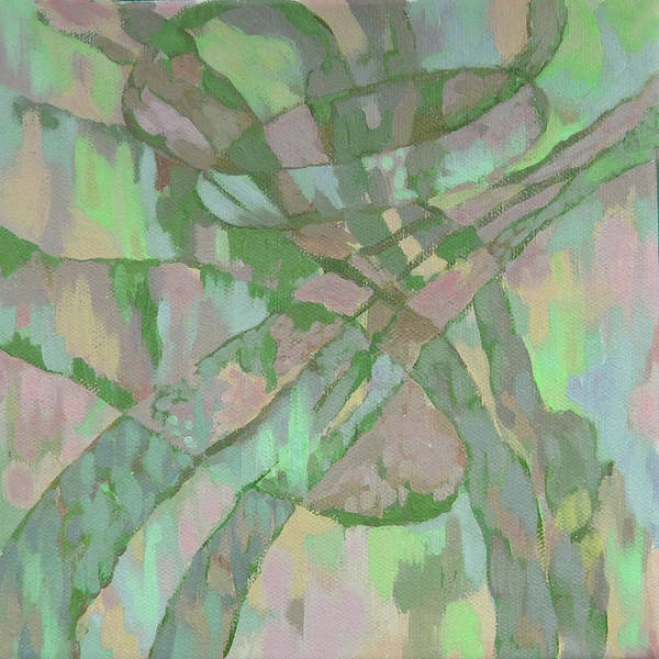 Abstract Art Print featuring the painting Zardoz 1. by Natalia Piacheva