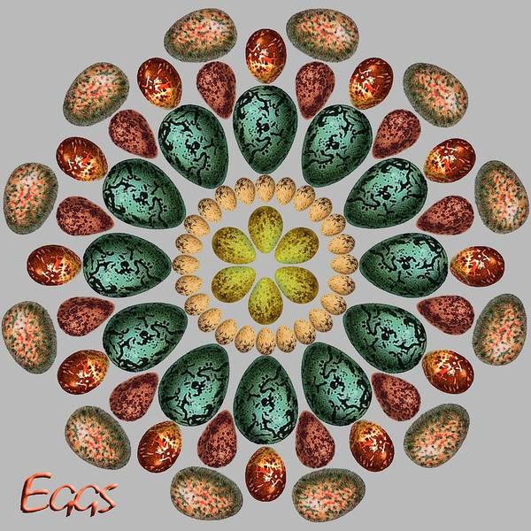 Eggs Art Print featuring the digital art Zeerkl Of Eggs by Edelberto Cabrera
