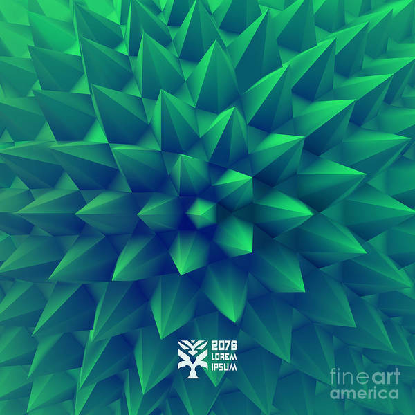 Biotechnology Art Print featuring the digital art 3d Abstract Background. Vector by Login