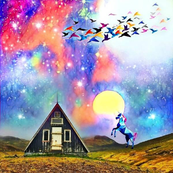 Art Print featuring the digital art Abode Of The Artificial-dreamer Zero by Sureyya Dipsar