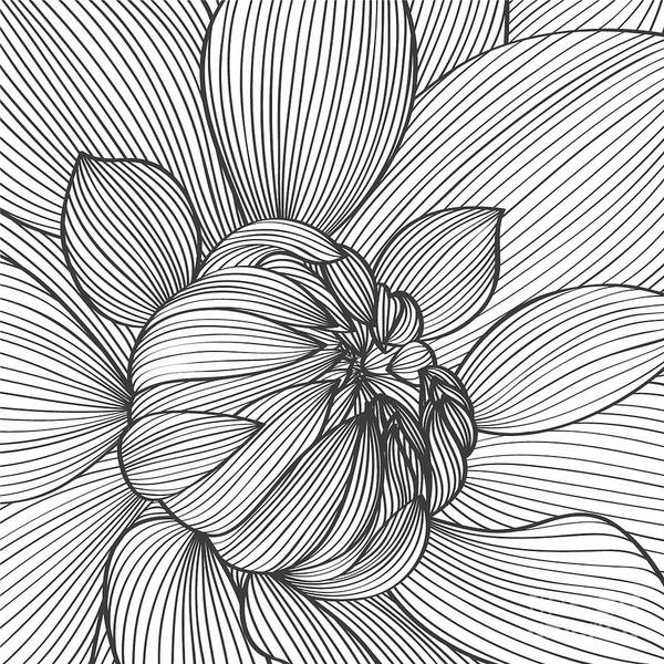 Template Art Print featuring the digital art Abstract Floral Background. Vector by Katyartdesign