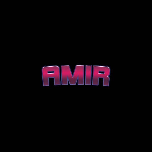 Amir Art Print featuring the digital art Amir by TintoDesigns