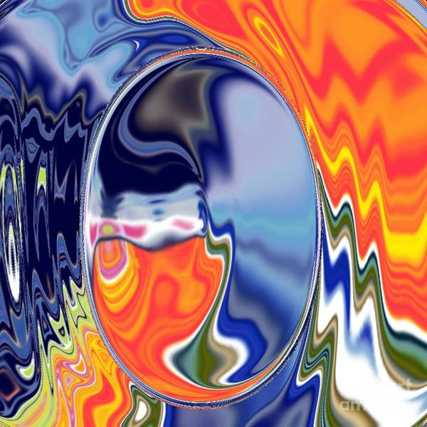 Abstract  Artwork Art Print featuring the digital art Ooo by A z akaria Mami