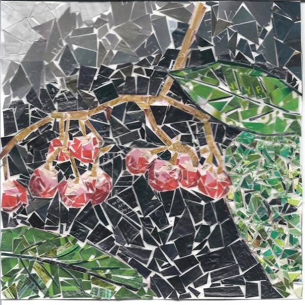 Berries Art Print featuring the mixed media Berries by Karla Clark