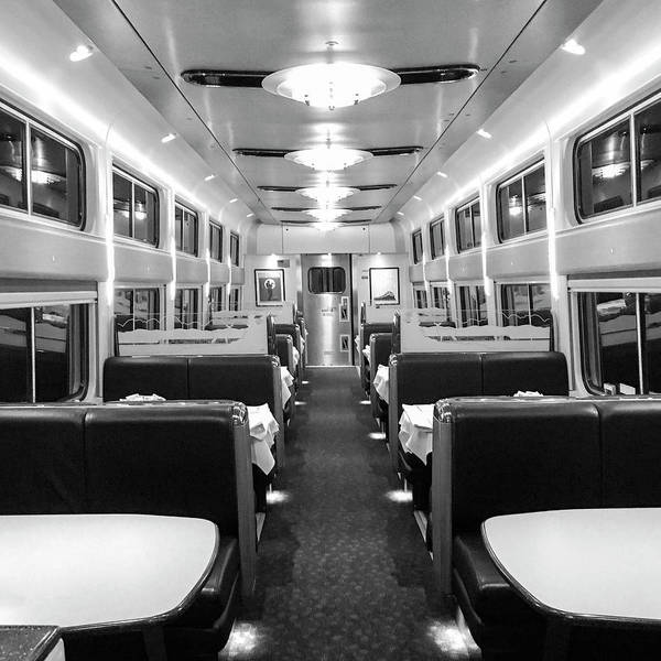 Dining Car Art Print featuring the photograph Dining Car by Sharon Popek