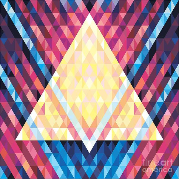 Art Print featuring the digital art Geometric Background - Vector Seamless by Sergey Korkin