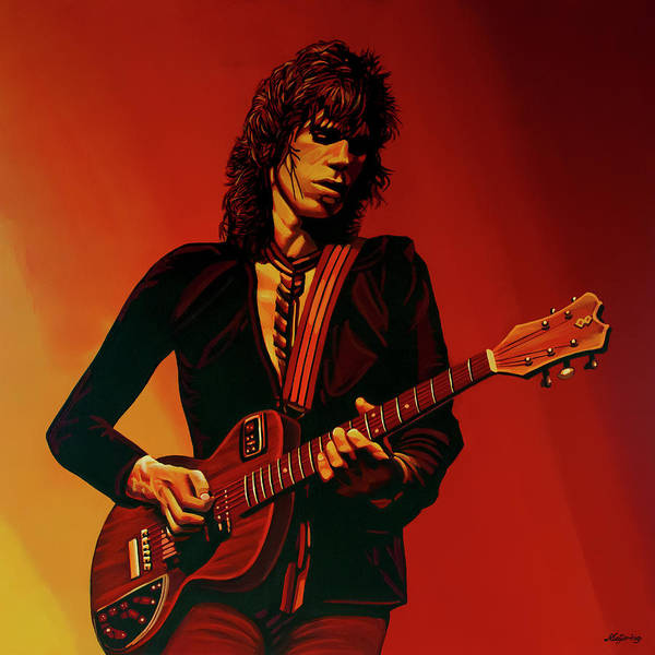 Keith Richards Art Print featuring the painting Keith Richards 3 by Paul Meijering