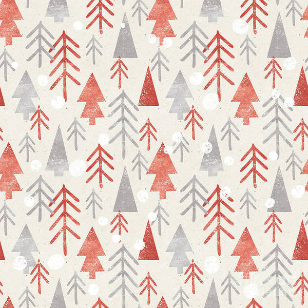 Cut Art Print featuring the digital art Seamless Christmas Pattern On Paper by Irtsya