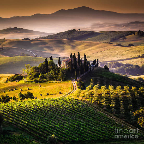 Country Art Print featuring the photograph Tuscany, Italy - Landscape by Ronnybas Frimages