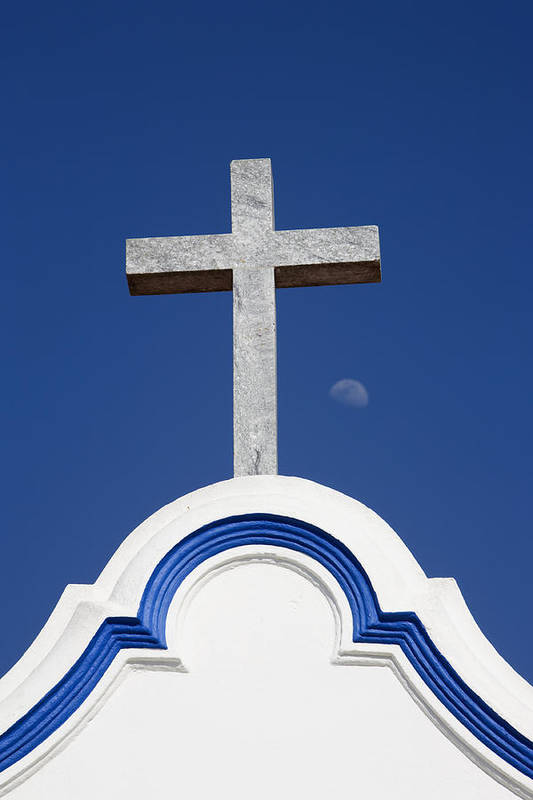 Photo Art Print featuring the photograph Cross Over The Church by Carmo Correia