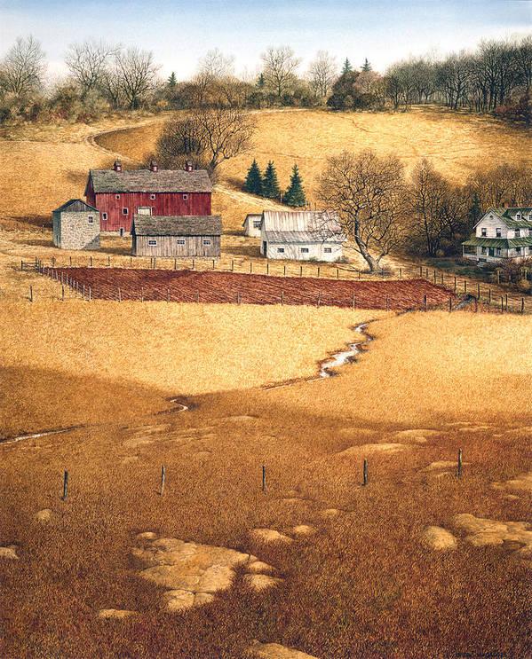 Landscape Art Print featuring the painting Blackshear Hollow by Tom Wooldridge