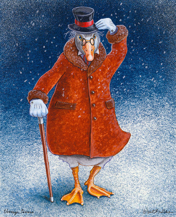 Will Bullas Art Print featuring the painting Ebenezer Goose... by Will Bullas
