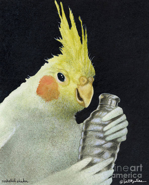 Will Bullas Art Print featuring the painting The Cockatiel Shaker... by Will Bullas