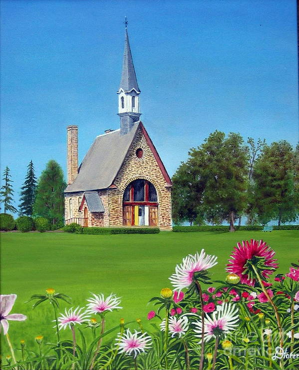 Nova Scotia Art Print featuring the painting Evangeline Museum by Donald Hofer