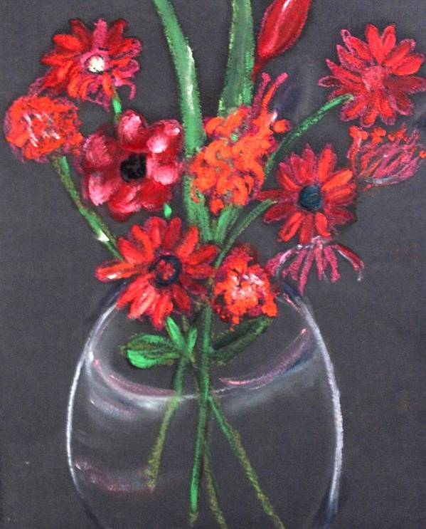 Still Life Art Print featuring the painting Rouge Et Noir by Michela Akers