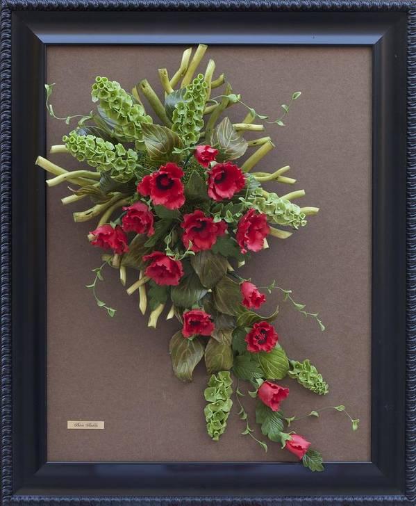 Flower Design Clay Art