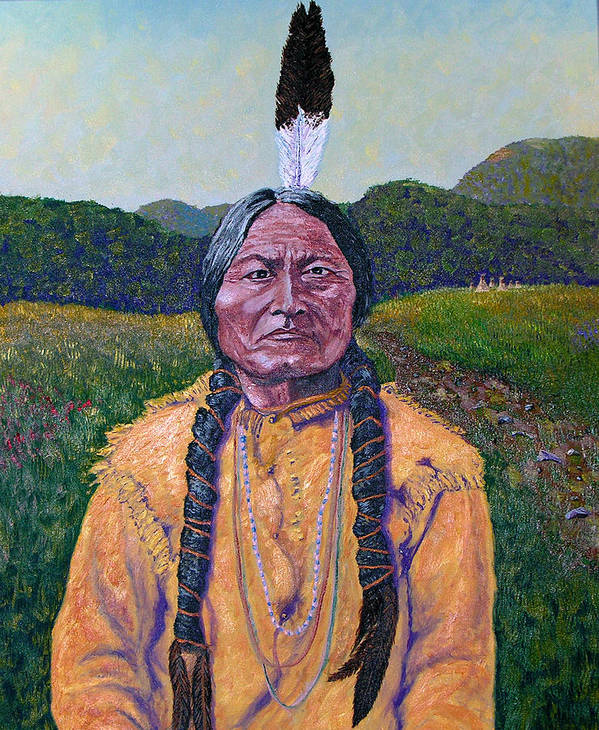 Sitting Bull Art Print featuring the painting Sitting Bull by Stan Hamilton