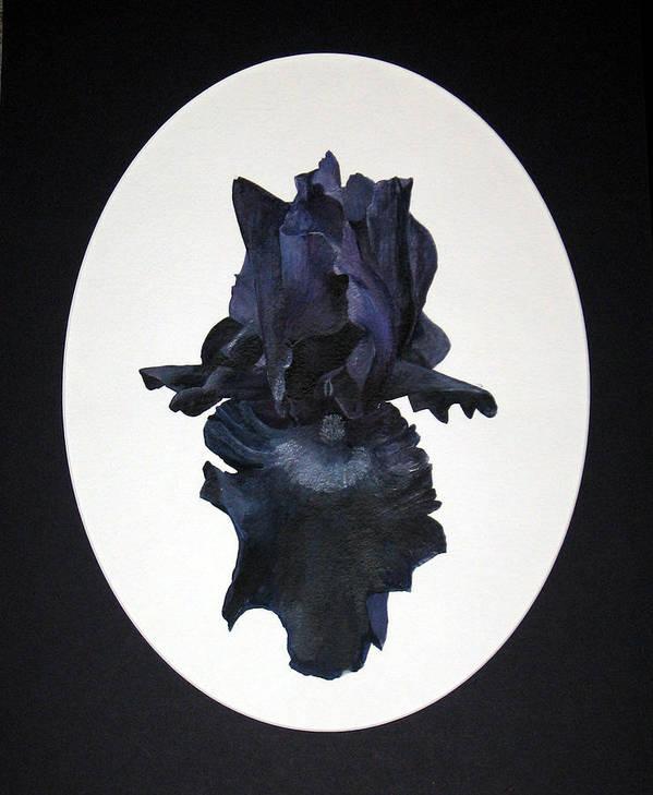 Iris Art Print featuring the painting Deep Passion by Lauretta Cole Larsen