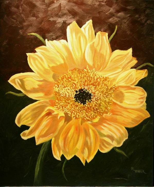 Sunflower Art Print featuring the painting Solar Power by Robert Tower