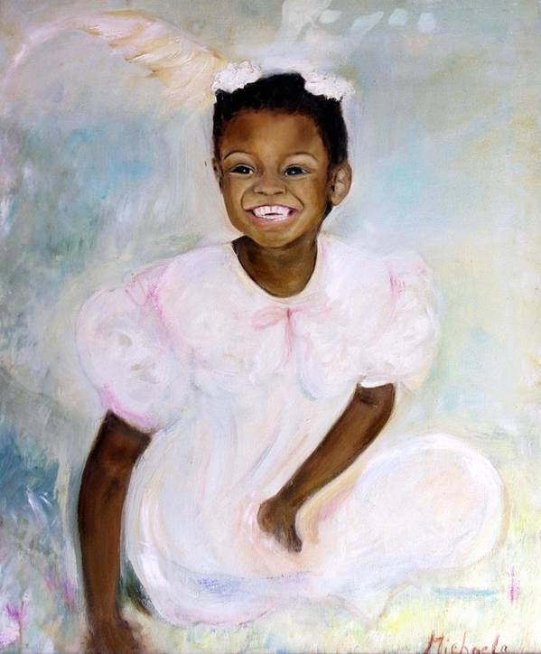 Portrait Art Print featuring the painting Sunday's Child by Michela Akers