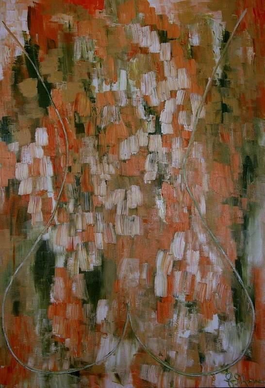 Acrylic Art Art Print featuring the painting Magnolia by Janie Apostolakos
