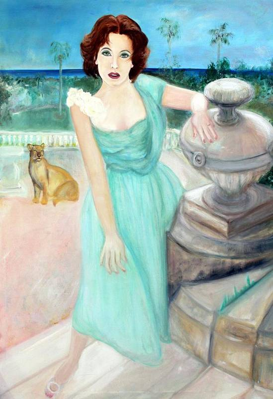 Portrait Art Print featuring the painting Enchanted by Michela Akers
