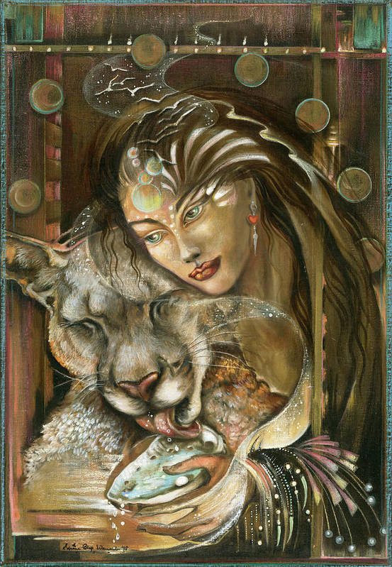 Wildlife Art Print featuring the painting Madonna by Blaze Warrender